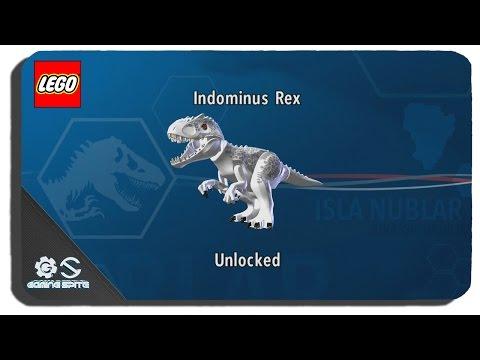 Lego Jurassic World - How To Unlock Indominus Rex Dinosaur Character Location