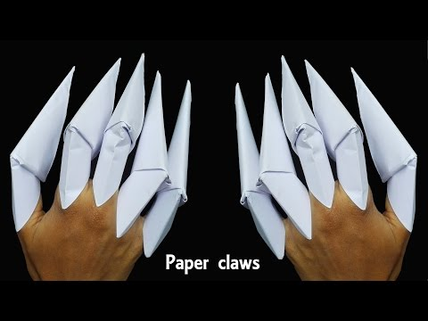 How to make  Paper Claws || Kids Craft