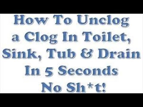How To Unclog Clear a Toilet Sink Tub Drain In 5 Seconds No Sh*t! Really Works