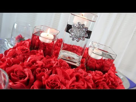 How to Create a Mirrored Candle Centerpiece | Floating Bed of Roses