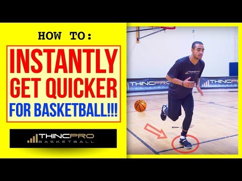 How to - INSTANTLY GET QUICKER IN BASKETBALL! (Top 3 Basketball Quickness Drills At Home)