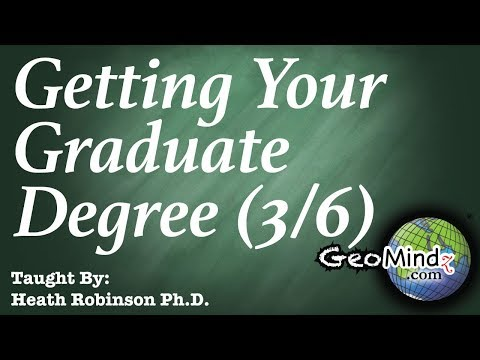 Getting Your Graduate Degree Successfully (3/6) - Last Semester of Coursework