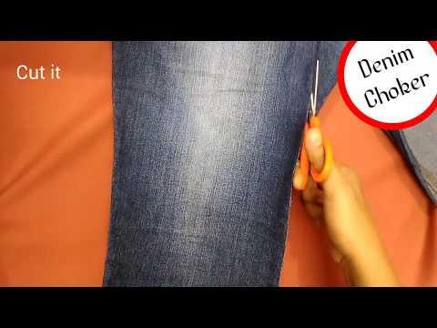 Smart & trendy Choker #05/ DIY denim choker