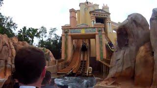 Journey To Atlantis Seaworld Orlando Water Coaster Pov [4k]