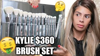 KYLIE COSMETICS $360 BRUSH SET | OMG DUPES!!!  HIT OR MISS??