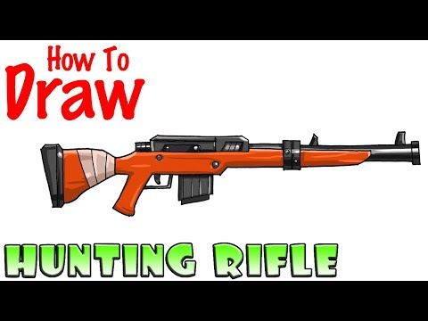 How to Draw Hunting Rifle | Fortnite