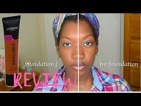 L'ORÉAL INFALLIABLE TOTAL COVER FOUNDATION 312 COCOA | DARK SKIN | FIRST IMPRESSIONS + DEMO