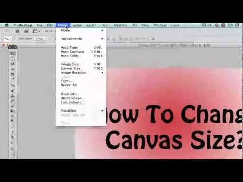 Photoshop Tips - How To Change Your Canvas Size In Photoshop