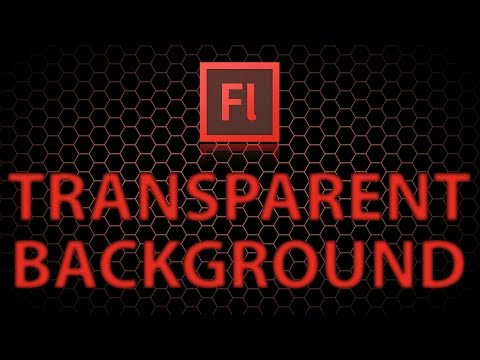 How to make transparent backgrounds in flash