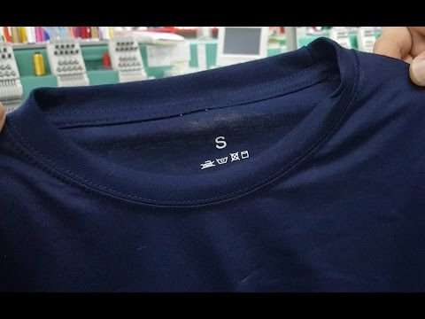 How to Re-label T-shirts by Adding / Using Iron On Neck Labels