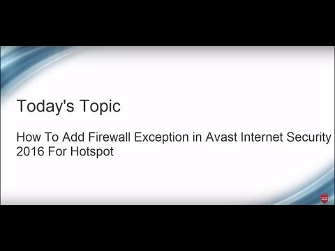 How to allow apps by firewall in Avast Internet Security 2016