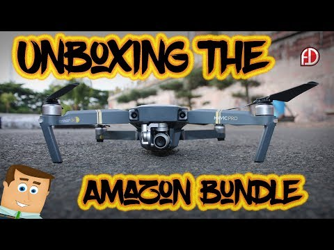 DJI Mavic Pro Unboxing - What's In The Amazon Bundle Pack