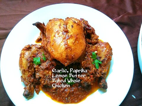Honey Garlic Paprika, Butter Sauce Baked Whole Chicken | With Pigeon Peas Rice