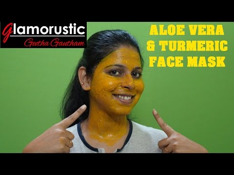 Get Acne-Free & Clear Skin with Turmeric & Aloe Vera FACE MASK | DIY | DAY 1 - CLEAR SKIN CHALLENGE