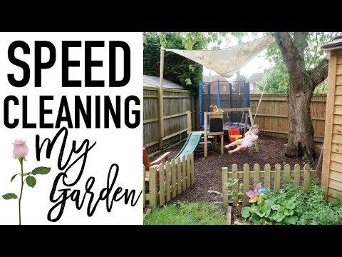 SPEED CLEANING MY GARDEN | Getting my garden organised for Summer