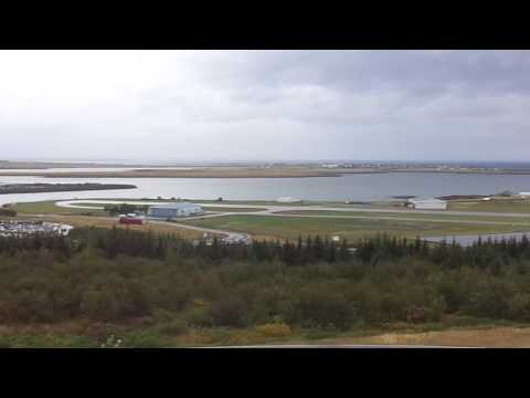 Reykjavik, Iceland- Overlooking domestic airport  at downtown