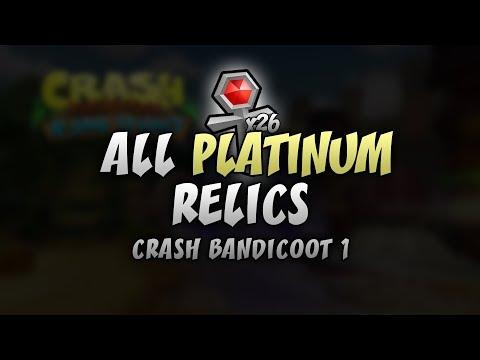Crash Bandicoot 1 (PS4) - All 26 Platinum Relic Times (Every Level) - Crash N. Sane Trilogy