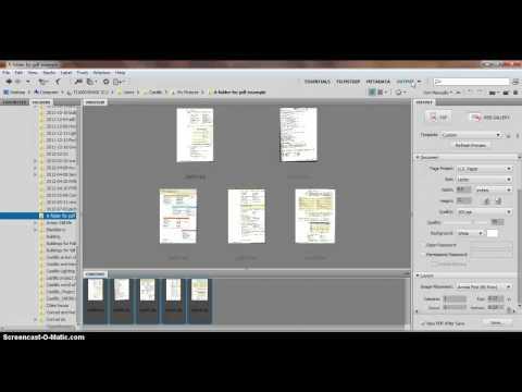 How to create a PDF in Bridge