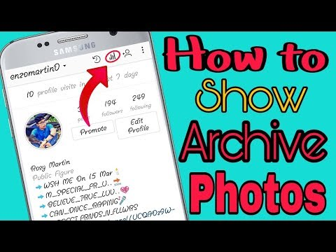 Instagram archive photo back//How to show & undo archive photos on instagram