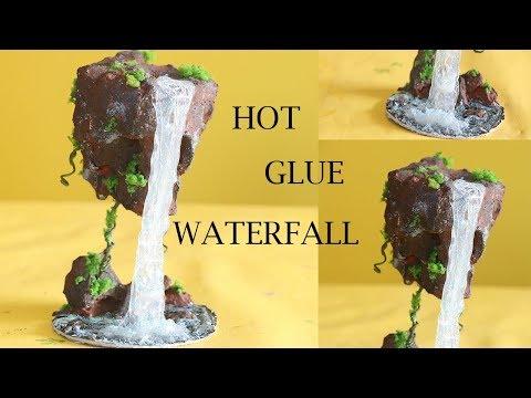 DIY HOT GLUE WATERFALL   FAIRY LAND WATERFALL  