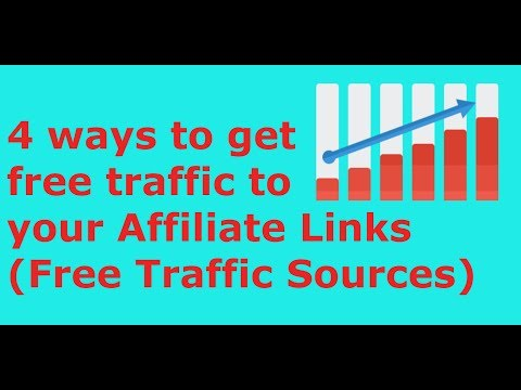 4 ways to get free traffic to your Affiliate Links(Free Traffic Sources)