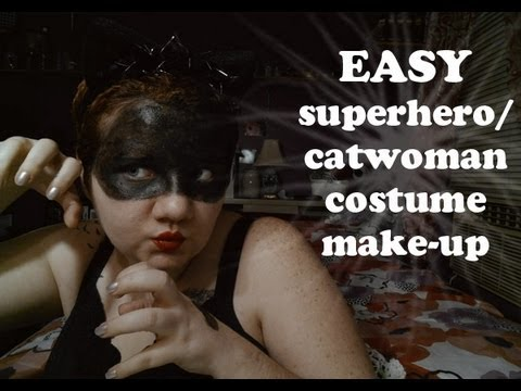 easy superhero/catwoman costume make-up