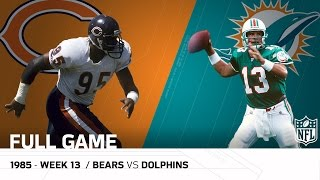 Dolphins End '85 Bears Undefeated Season (Week 13, 1985)   Bears vs. Dolphins   NFL Full Game