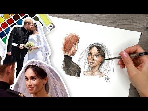DRAWING the Royal Wedding! Meghan Markle & Prince Harry