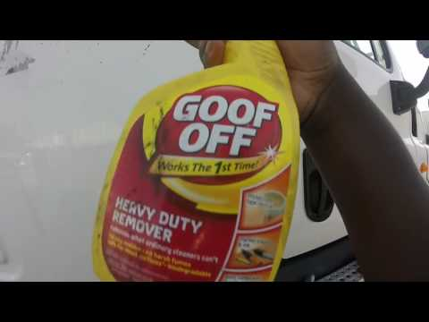 How to remove Adhesive Tape (using goo off)