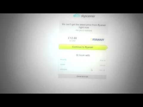 Ryanair Booking Error