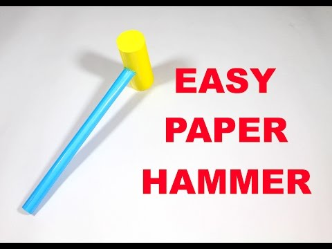 How to Make a Paper Hammer - Easy Tutorials