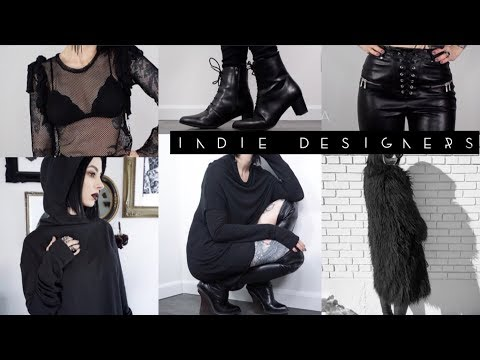 Indie Designer ALL BLACK Fashion Look Book