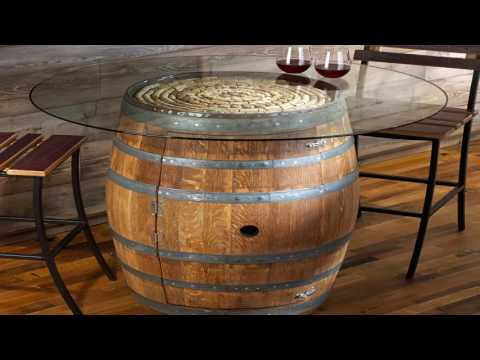 wine barrel furniture plans