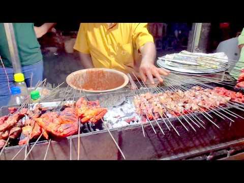 Aalam's Tasty Chicken Biryani Seenkh Kebabs Roasted Chicken Street Food