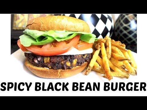 Spicy Black Bean Burgers - Dairy / Gluten Free + Vegan options!