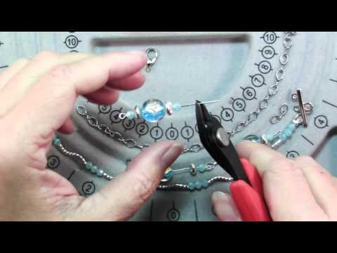 How To Make Blu And Silver Multi Strand Necklace