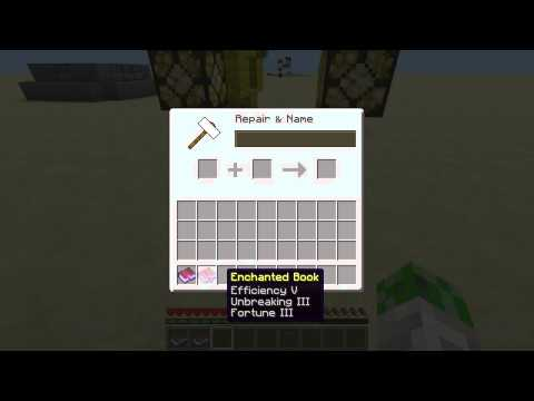 Making Epic Enchanted Books In Minecraft 1.5