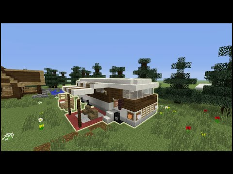 Minecraft Tutorial: How To Make An RV Camper Van (Including Inside)