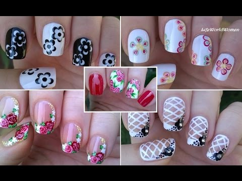 NAIL ART COMPILATION #3 - Floral Nails / LifeWorldWomen