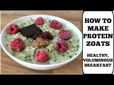 HOW TO MAKE HEALTHY PROTEIN ZOATS || Full Recipe