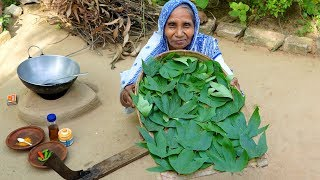 EGG & TOK-CHUHOR LEAVES Cooking by our Grandmother !!! Bangali Food Recipe