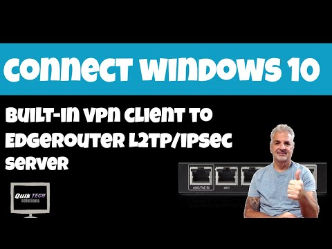 How To Connect To EdgeRouter L2TP VPN Server From Windows 10
