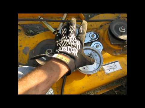 Cub Cadet Mower Belt (coming off) Deck Fix LT 1045 Part 1