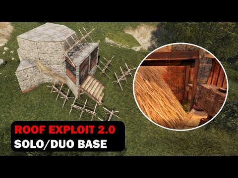 Roof Exploit Reborn | Solo Bunker Base | Rust Building 3.0 [PATCHED]