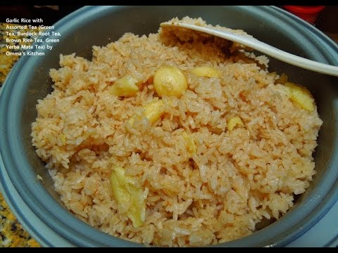 Asian Sticky Garlic Rice with Assorted Tea (마늘 녹차