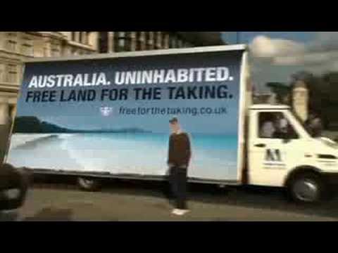 Free land in Australia sign at Big Ben