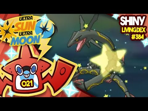 SHINY RAYQUAZA!! HARRY POTTER LUCK! Quest For Shiny Living Dex #384 | Ultra Sun and Moon Shiny #021