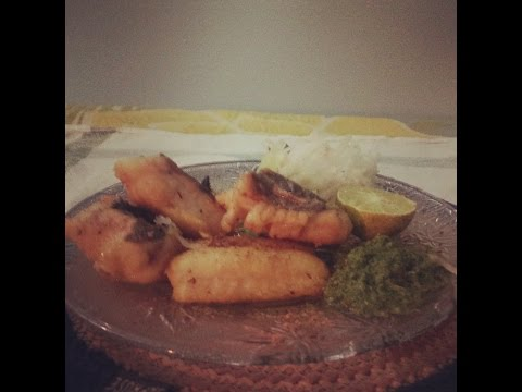 Fried Fish With Mint Chutney