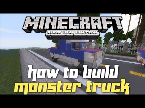 Minecraft Xbox 360: How to Build a Monster Truck! (Car Let's Build!)