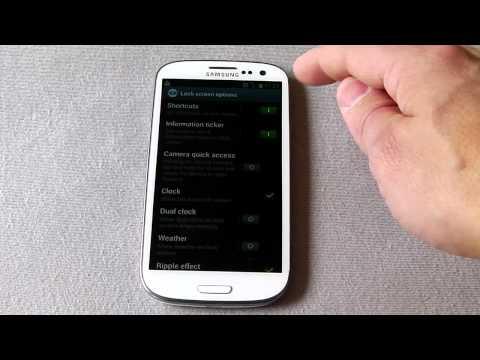 How to customize Samsung galaxy s3 lockscreen.MP4